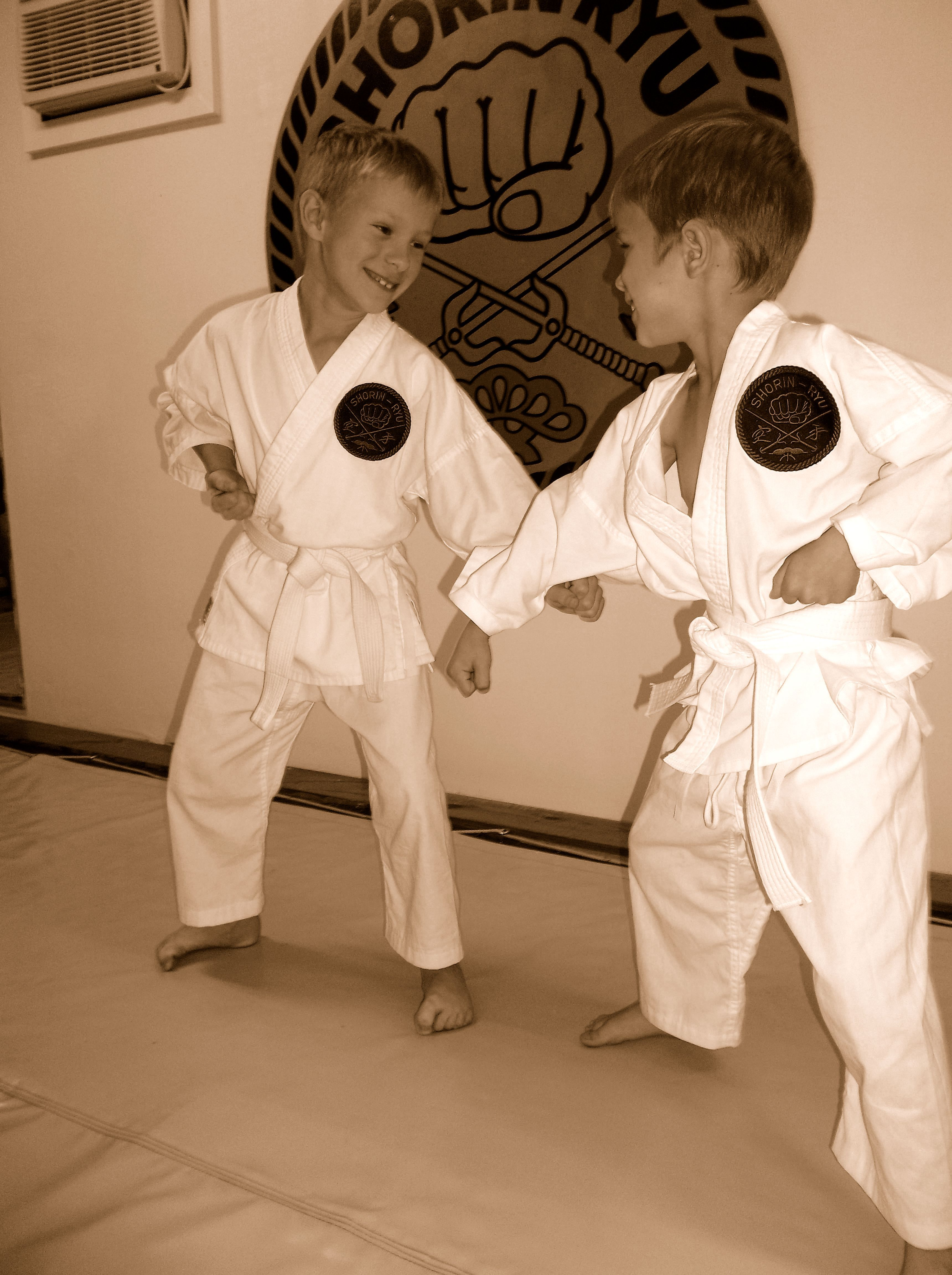 Pictures of our children students at the Merritt Island dojo