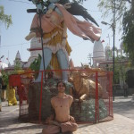Shane Scaglione on one of his trips to India. Statue of Shiva. There is a story here.