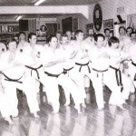 This is a picture from the 80's. Ansei Ueshiro on the far left and that's Sensei Judy next to her Sensei all the way to the right.